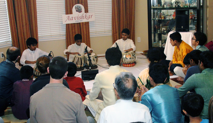 Tabla students perform during Aavishkar