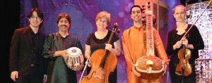 """Shantilal Shah with the """"River of Light"""" musicians"""